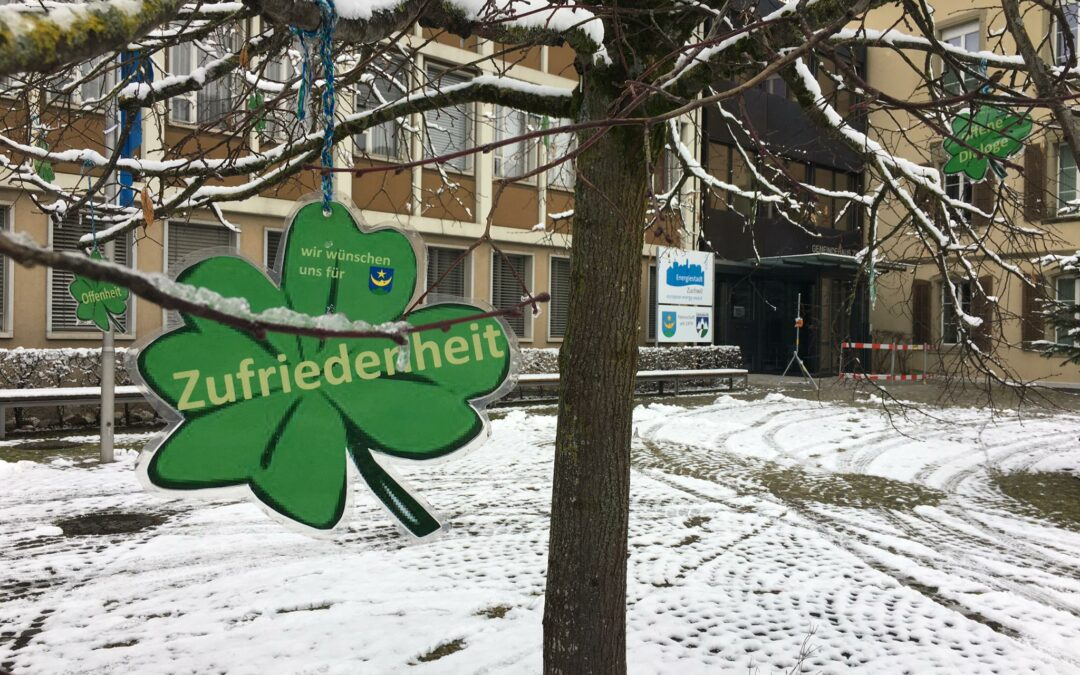 Zuchwiler Wunschbaum überbringt Neujahrswünsche an Bevölkerung